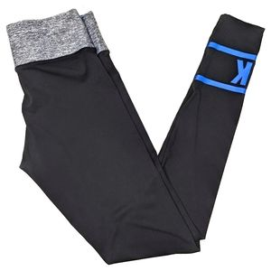 PINK Victoria's Secret black blue skinny leggings
